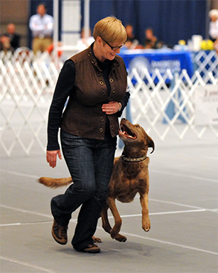 Dog trainer Margaret Simek.