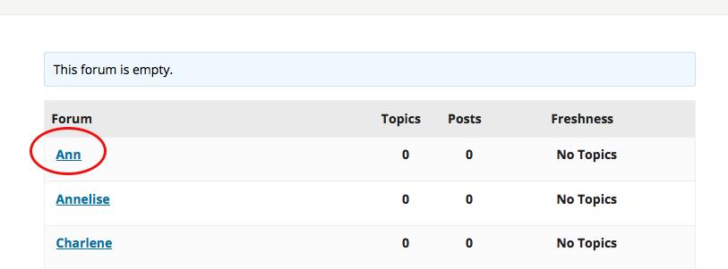 select individual forum
