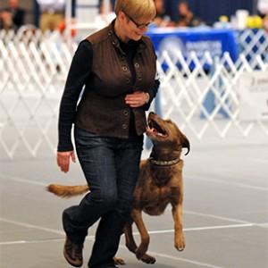 Dog trainer Margaret Simek.